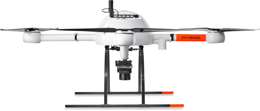 Microdrones mdMapper1000DG low left view md4-1000