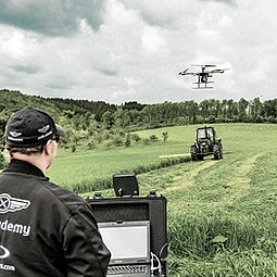 Precision farming perfomed with a mdMapper integrated sytem from Microdrones