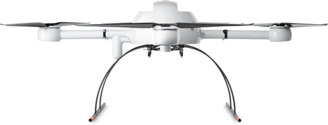 Microdrones md4-1000 drone UAV lower front view
