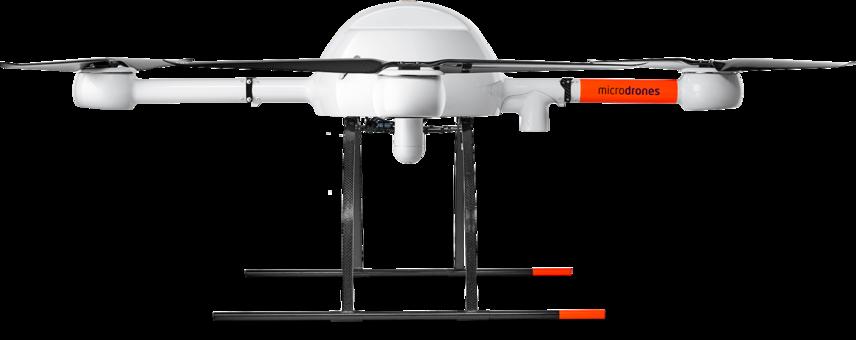 Microdrones md4-1000 UAV lower left side view