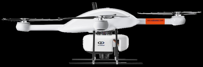 Microdrones md4-3000 mdLiDAR3000 UAV lower left side view