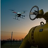 Inspection mission of a gas pipeline using a Microdrones md4-1000 UAV