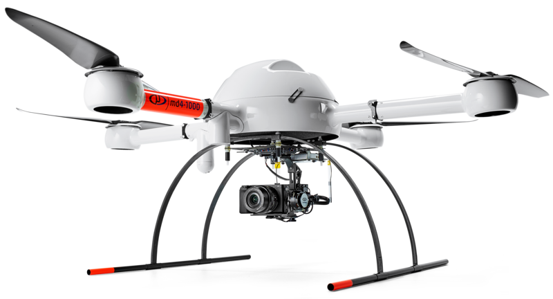Microdrones md4-1000 UAV with +i payload for aerial inspections