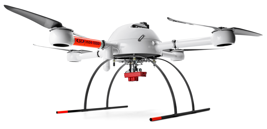 Microdrones md4-1000 UAV with +m Micasense Rededge sensor for multi-spectral imaging