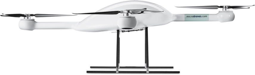 Microdrones md4-3000 UAV lower left side view