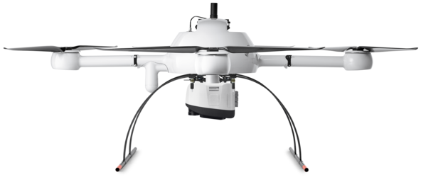 Microdrones mdLiDAR1000 Integrated System low front view