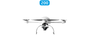 Microdrones mdMapper200 Integrated System low front view