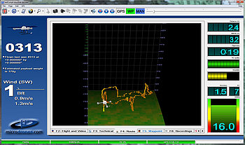 3D flight visualization in Microdrones mdCockpit for desktops