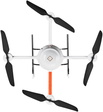 md4-200 top view Microdrones UAV drone