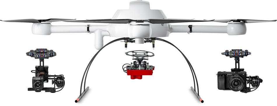 Microdrones md4-1000 UAV with mdMapper accessories product range