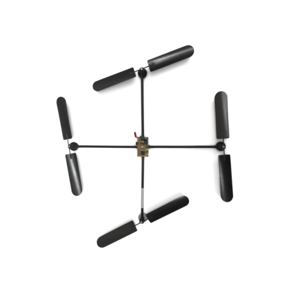 The first prototype of a drone created by Udo Jürß, founder of Microdrones.