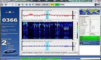 Flight recorder in Microdrones mdCockpit for desktops